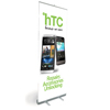 Pull Up Banner/ Promotional Stand showing HTC Repairs, Accessories & Unlocking - Shipped to UK Only