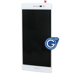 HuaWei Ascend P7 Sophia Complete LCD with Digitizer and frame  in White