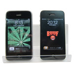 Clear Mobile phone Acrylic Display stand ideal for 2/3 phones