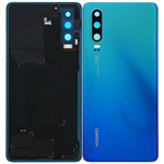Genuine Huawei P30 Battery Cover In Aurora Blue with Adhesive - Part no: 02352NMN