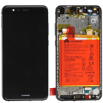 Genuine Huawei P10 Lite Lcd and touchpad with battery, speaker & Side buttons in Black - Part no: 02351FSG