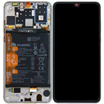 Genuine Huawei P30 Lite Lcd Screen and touchpad with battery Assembly in White - Part no : 02352RQC