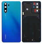 Genuine Huawei P30 Pro Battery Cover In Aurora Blue with Adhesive - Part no: 02352PGL