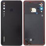 Genuine Huawei P30 Lite Midnight Black Battery Cover with Fingerprint Sensor - Part no: 02352RPV