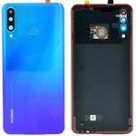 Genuine Huawei P30 Lite Peacock Blue Battery Cover with Fingerprint Sensor - Part no: 02352RPY