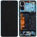 Genuine Huawei P30 Aurora Blue LCD Screen & Digitizer with Battery - Part no: 02352NLN