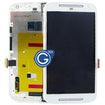 Motorola Moto G (2014), G2 (XT1063XT1064XT1068) Complete LCD and Digitzer with Frame in White