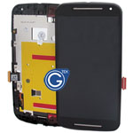 Motorola Moto G (2014), G2 (XT1063/XT1064/XT1068) Complete LCD and Digitzer with Frame in Black