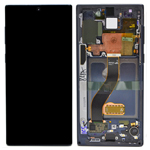 Genuine Samsung Galaxy Note 10 (N970F) / Note 10 5G Complete lcd with frame touchpad in black - GH82-20818A