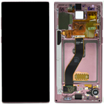 Genuine Samsung Galaxy Note 10 (N970F)/ Note 10 5G Complete  lcd and touchpad in Aura Pink- Part no: GH82-20817F