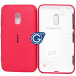 Nokia Lumia 620 Back cover with side button and earphone connector in pink