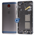 OnePlus 3 A3000 A3003, 3T A3010 Rear Housing with Side Buttons, Mute Switch Flex and Sim Tray in Grey