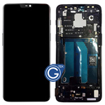 OnePlus 6 Complete LCD and Touchpad with Frame Assembly in Black