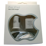 iPad 10W Mini Charger 3 in 1 Home/travel/Car/Usb data cable Euro 2 pin  For Europe Only