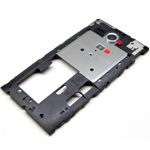 Original Middle Cover + Antenna (Silver Ring) for Sony C5303 Xperia SP, C5302 Xperia SP, C5306 Xperia SP - P/N:1270-5013