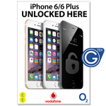 New A2 Medium iPhone 6/6 Plus Unlocked Here Poster