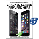 New A2 Medium iPhone 6/6 Plus Cracked Screen Repared Here Poster