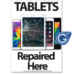 New A1 Large 841 x 594 mm Tablets Repaired Here Poster
