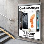 Newly Designed Cracked Screens 1 hour Repair Service Poster  in A1 - Large poster