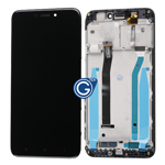 Redmi 4X Complete LCD with Touchpad and Frame in Black - OEM