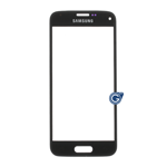 Samsung Galaxy S5 Mini SM-G800 Front Glass Lens WIth adhesive in Black - High Quality
