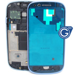 Samsung Galaxy S3 Mini i8190 LCD Frame with Side Button in Pebble Blue