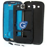 Samsung Galaxy S3 i9300 complete housing in black