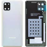 Genuine Samsung Note 10 Lite Battery Cover In Aura Glow Silver - Part no: GH82-21972B