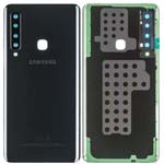 Genuine Samsung A9 2018 (A920) Battery Cover In Black With Adhesive - Part no: GH82-18234A, GH82-18239A