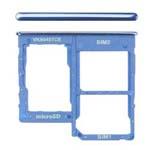 Genuine Samsung Galaxy A40 (A405F) Dual Sim Card Holder Blue - Part No: GH98-44303C