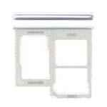 Genuine Samsung Galaxy A40 (A405F) Dual Sim Card Holder White - Part No: GH98-44303B