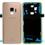 Genuine Samsung Galaxy S9 SM-G960 Single SIM Battery Cover In Sunrise Gold - Part no: GH82-15865E
