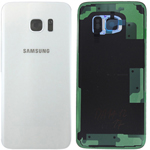 Genuine Samsung SM-G935F Galaxy S7 Edge Battery Cover in White - Part no: GH82-11346D