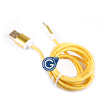 Braided Micro USB Charging/Data Cable 1.5M in Gold in Premium retail Packaging