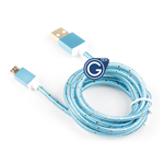 Braided Micro USB Charging/Data Cable 1.5M in Blue in Premium Retail Packaging