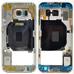Genuine Samsung SM-G920F Galaxy S6 Rear Chassis with Loudspeaker and Side Button in Gold - Samsung part no: GH96-09178C