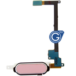 Samsung GALAXY Note 4 N910F Home button with flex complete in Pink