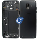 Samsung Galaxy A6 (2018) A600F Rear Housing with side buttons in Black