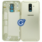 Samsung Galaxy A6+ (2018) A605F Rear Housing with side buttons in Gold