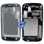 Samsung Galaxy Core i8260,Duos i8262 LCD Frame with Side Button in Metallic Blue