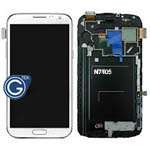 Samsung Galaxy Note 2 LTE GT-N7105 Complete Lcd with frame and digitizer in White - GH97-14114A (refurbished as new)
