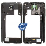 Samsung Galaxy Note 3 LTE (N9005) Rear Chassis with Loudspeaker Uinit and Camera Lens Black
