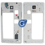 Samsung Galaxy Note 4 N910F Rear Chassis with Loudspeaker,Earphone Flex and Side Button in White