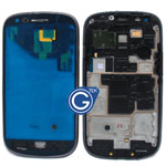Samsung Galaxy S3 Mini i8190 LCD Frame with Side Button in Black