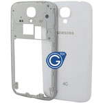 Samsung Galaxy S4 LTE(4G) i9505 Rear Frame with Battery Cover in White  (with 4G Logo)
