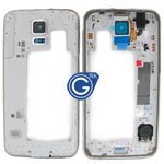 Samsung Galaxy S5 G900F Rear Chassis with Loudspeaker,Earphone Flex,Speaker,Camera Lens and Side Button