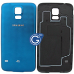 Samsung Galaxy S5 LTE-A G901F,S5 G900F Battey Cover in Blue (with 4G Logo)