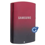 Samsung S5200 replacement battery cover in black and red
