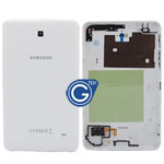 Samsung Galaxy Tab 4 7.0 Wifi Version SM-T230 Back Cover with Side Button and Loudspeaker in White