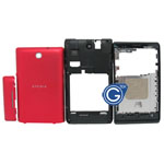 Sony C1505 Xperia E Complete Housing in Red